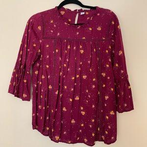 Flowy half sleeve blouse